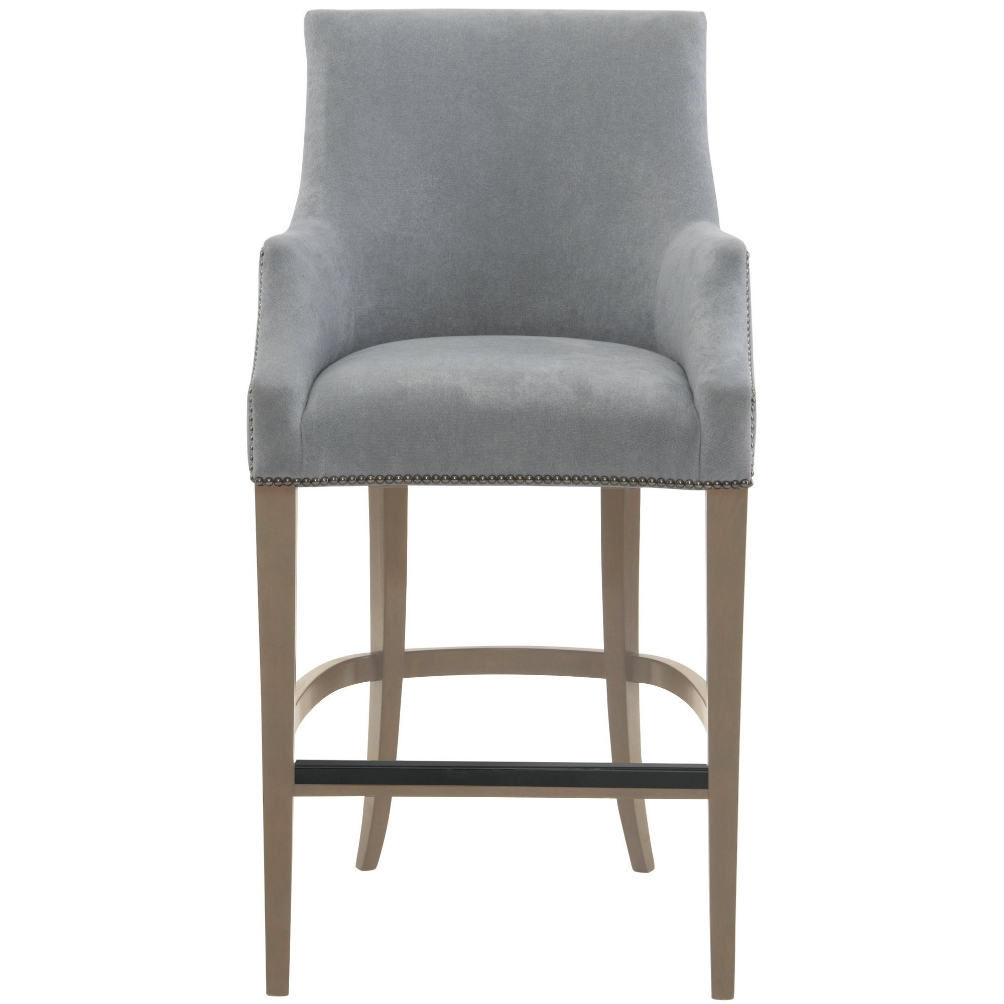 Upholstered Bar Chairs Keeley Upholstered Bar Stool With Nail Head Trim By Bernhardt At Dunk Bright Furniture