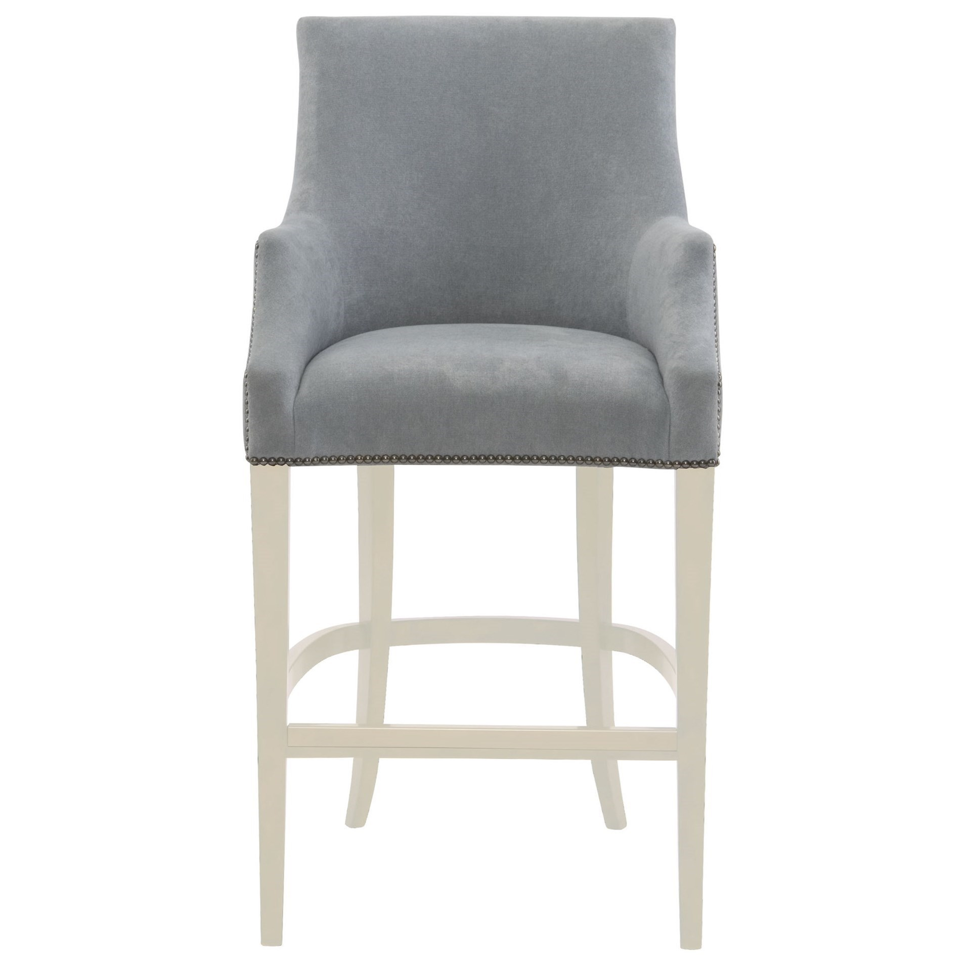 Upholstered Bar Chairs Bernhardt Keeley 348 588b Upholstered Bar Stool With Nail Head