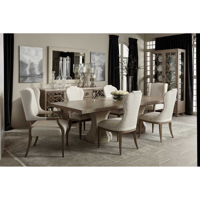 Bernhardt Santa Barbara Transitional 7 Piece Table And Chair Set Belfort Furniture Dining 7 Or More Piece Sets