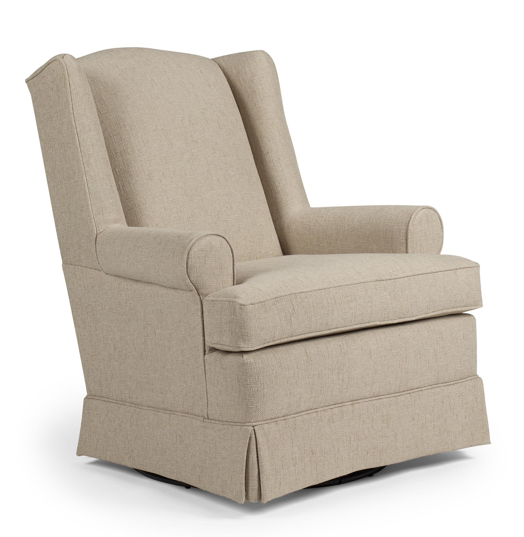 best chairs swivel glider revolving chair parts storytime series and ottomans roni skirted bullard furniture upholstered fayetteville nc