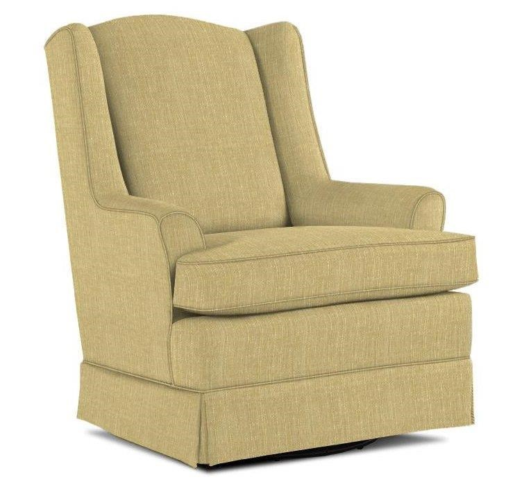 swivel upholstered chairs wicker chair seat pad best home furnishings glide natasha glider with wing back and skirt