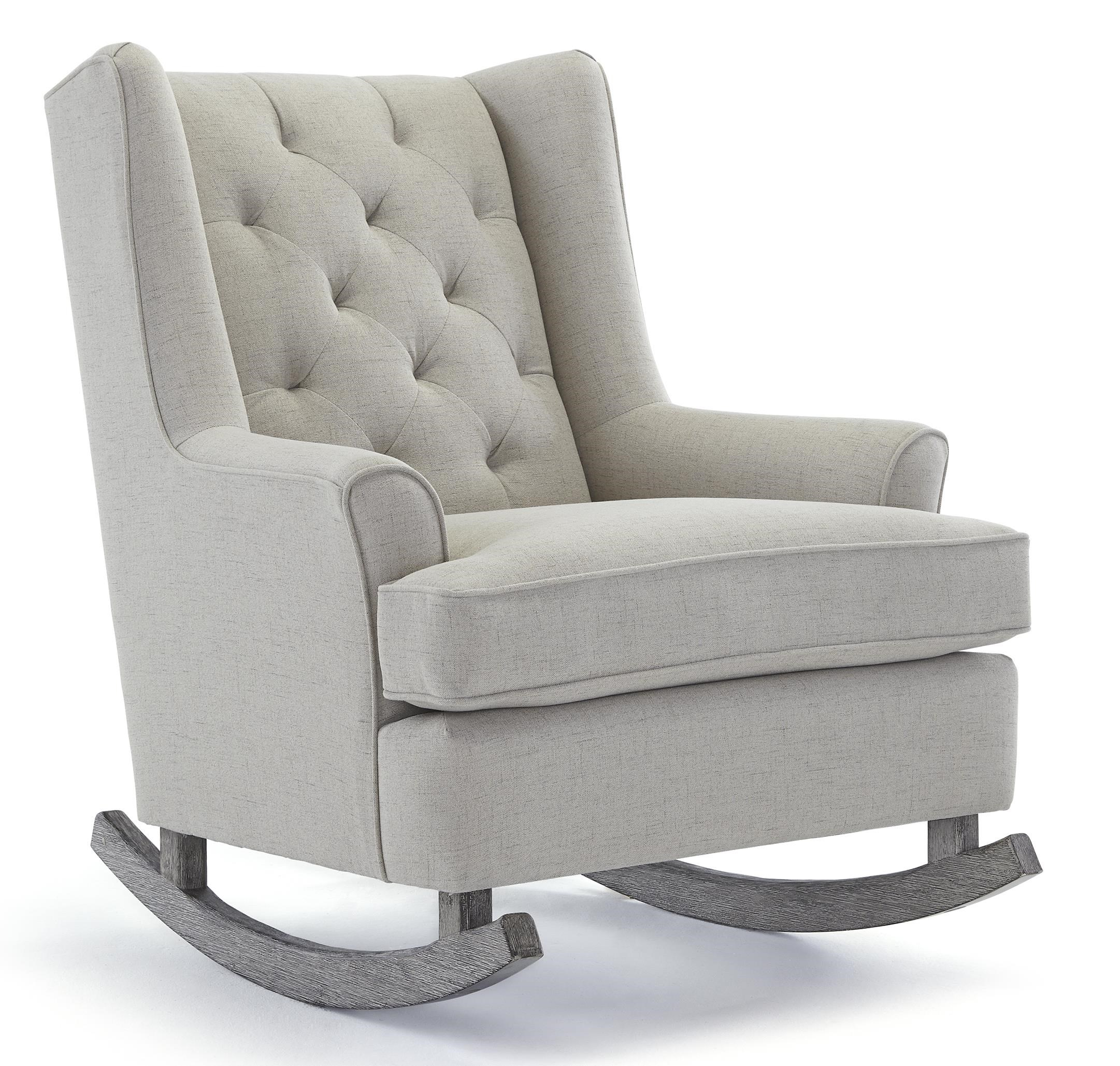 rocking chair rockers graco blossom high best home furnishings runner paisley button tufted with wood runners