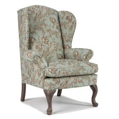 Best The Chairs Gray Accent Chair With Ottoman Home Furnishings Wing Sylvia Back Wayside
