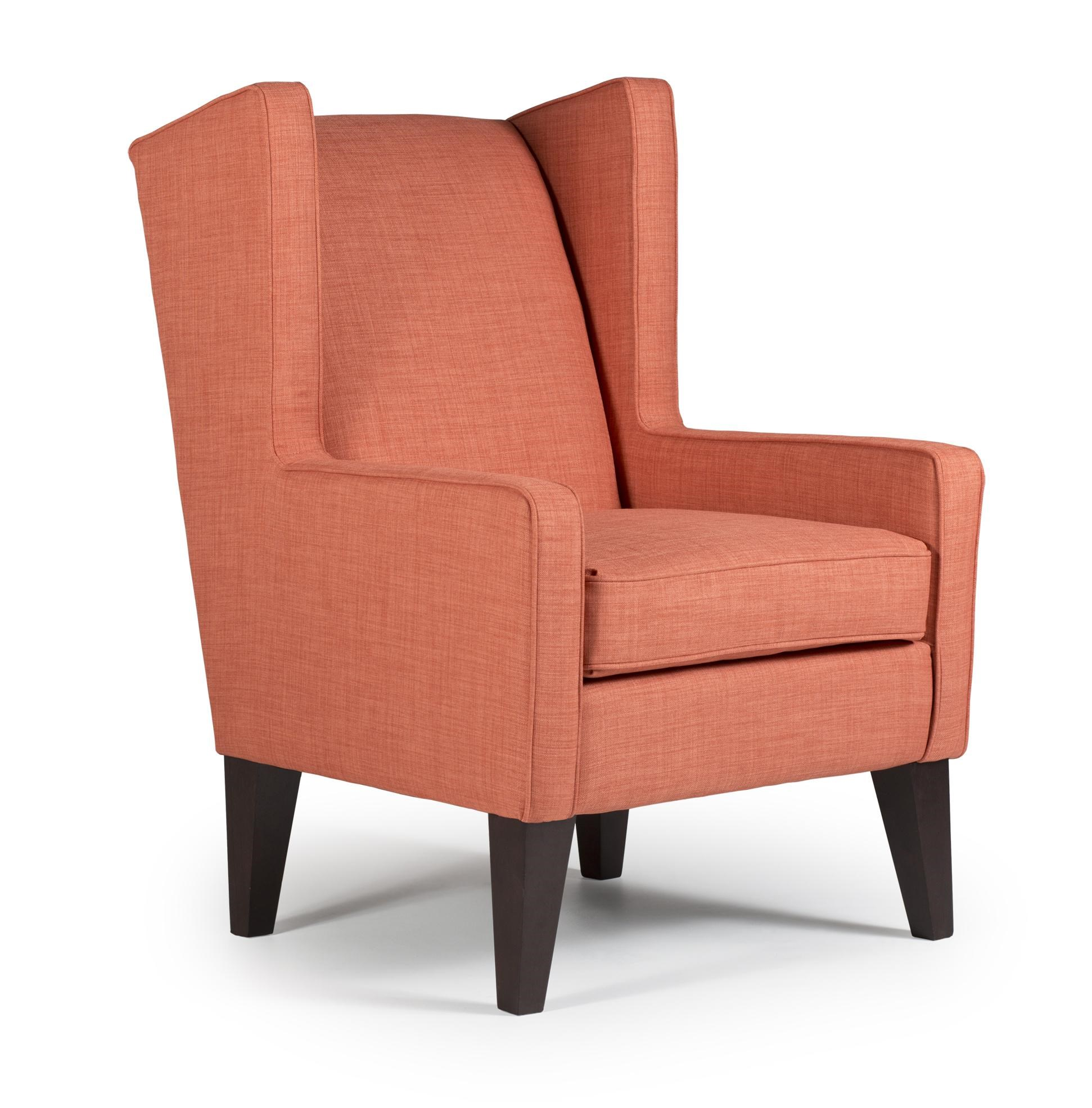 Modern Wing Chair Best Home Furnishings Wing Chairs Karla Modern Wing Chair