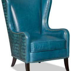 Bedroom Club Chair Big Kahuna Bradington Young Chairs Aurora With Flared Wing Back And Nailhead Trim