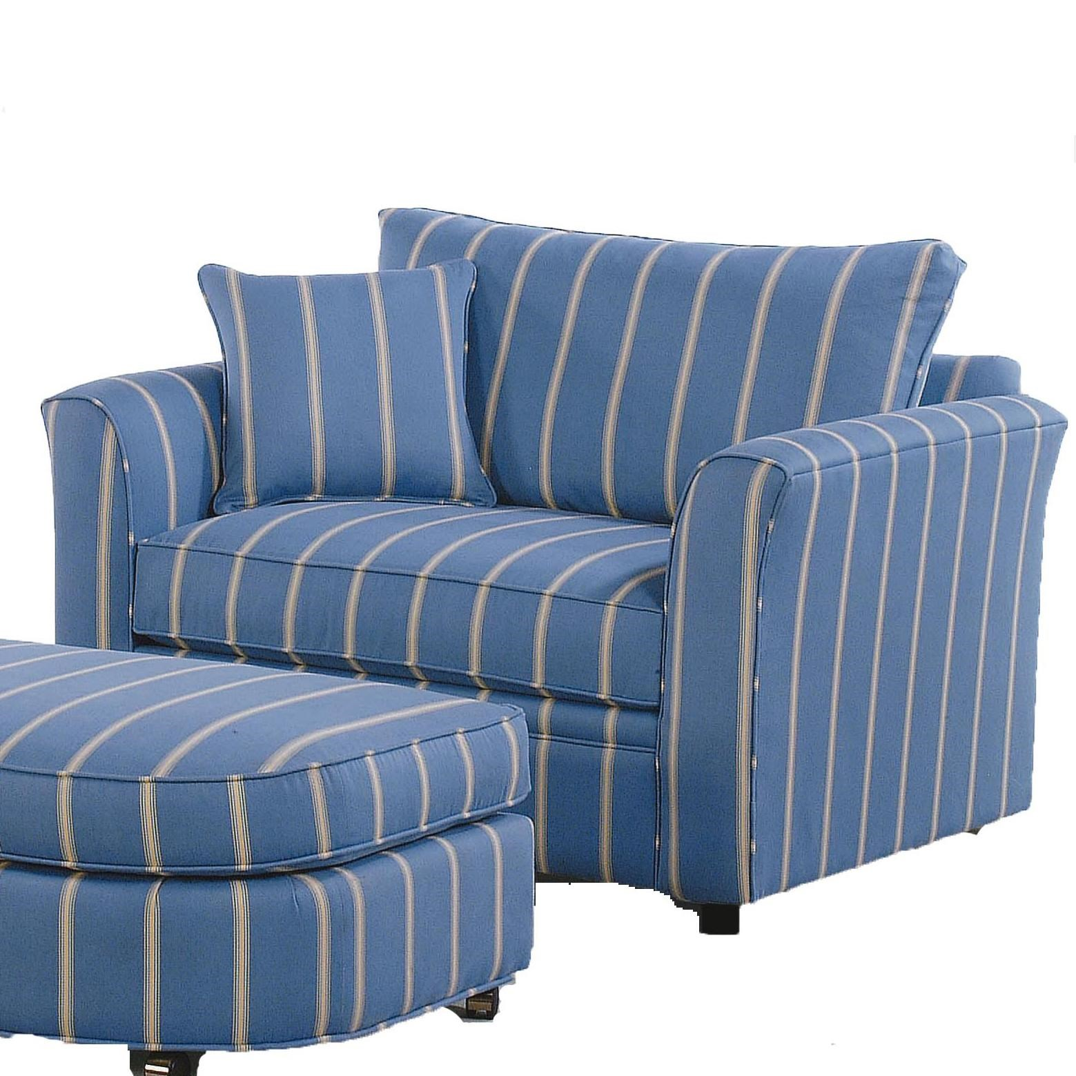 Blue Chair And A Half Braxton Culler Bridgeport 560 014 Casual Chair And A Half With