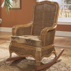 Rattan Wicker Rocking Chair Cushion Argos Sun Covers Braxton Culler Shorewood 1910 002 Tropical With Loose Seat