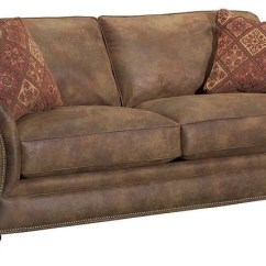 Broyhill Sleeper Sofa Richmond Leather Furniture Laramie With Nail Head Trim