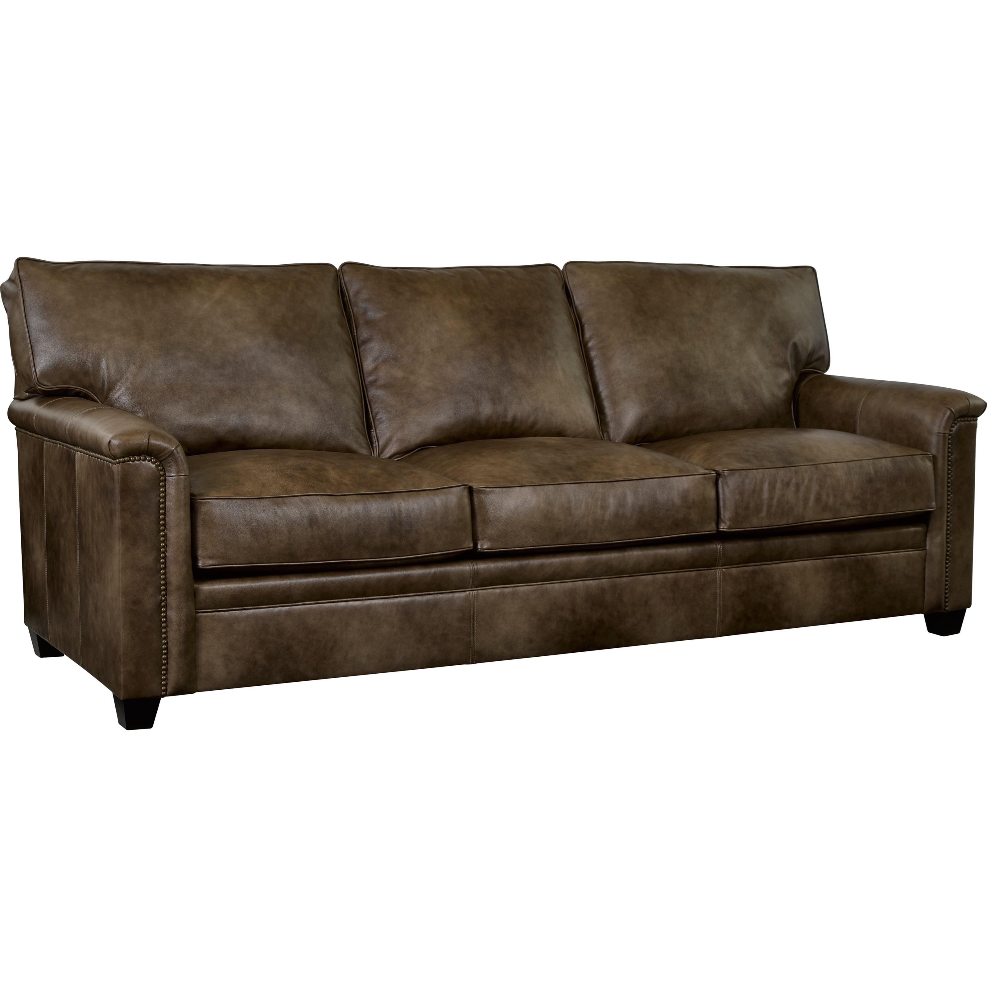leather sleeper sofa with nailheads sectional storage broyhill furniture warren nailhead trim accents and air dream mattress bullard sofas fayetteville nc