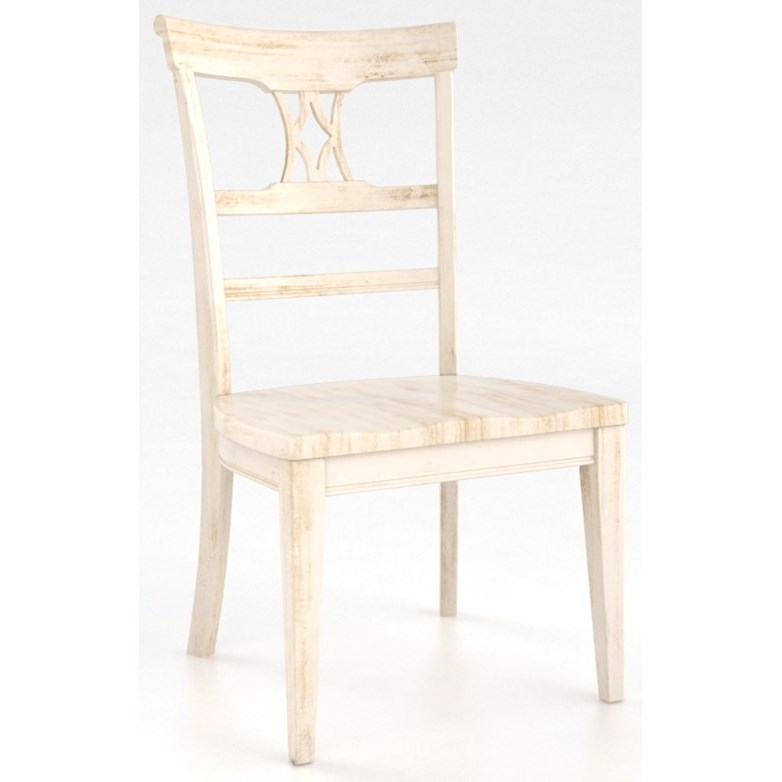 different world chair distressed kitchen chairs canadel custom dining cnn060019292apg customizable side diningcustomizable