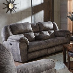 Catnapper Sofas And Loveseats Mustard Sofa Carrington Lay Flat Reclining Console Loveseat With Storage Cupholders By