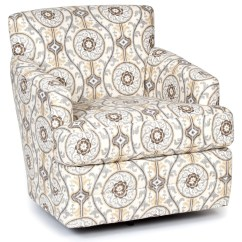 Swivel Upholstered Chairs Brown Leather Tufted Chair America Accent And Ottomans 1424sw Transitional Ottomanstransitional Rocker