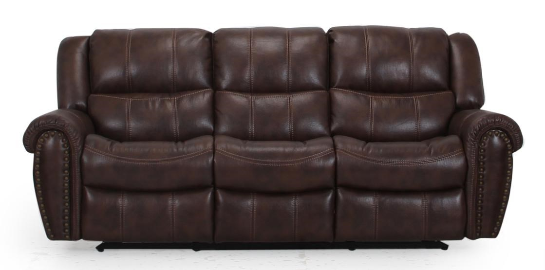 reclining sofa with nailhead trim jennifer convertibles bed prices cheers xw9507m casual