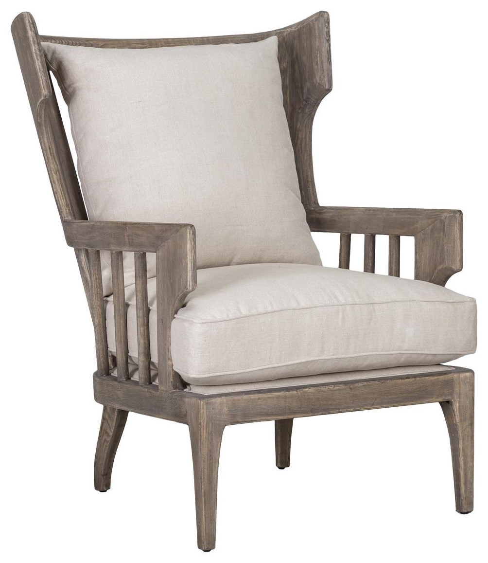 wood frame accent chairs best chair after spinal fusion classic home lawrence solid howell