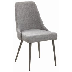 Industrial Dining Chair Wheelchair Fails Coaster Levitt 190442 With Upholstered Seat And Back Dunk Bright Furniture Side Chairs