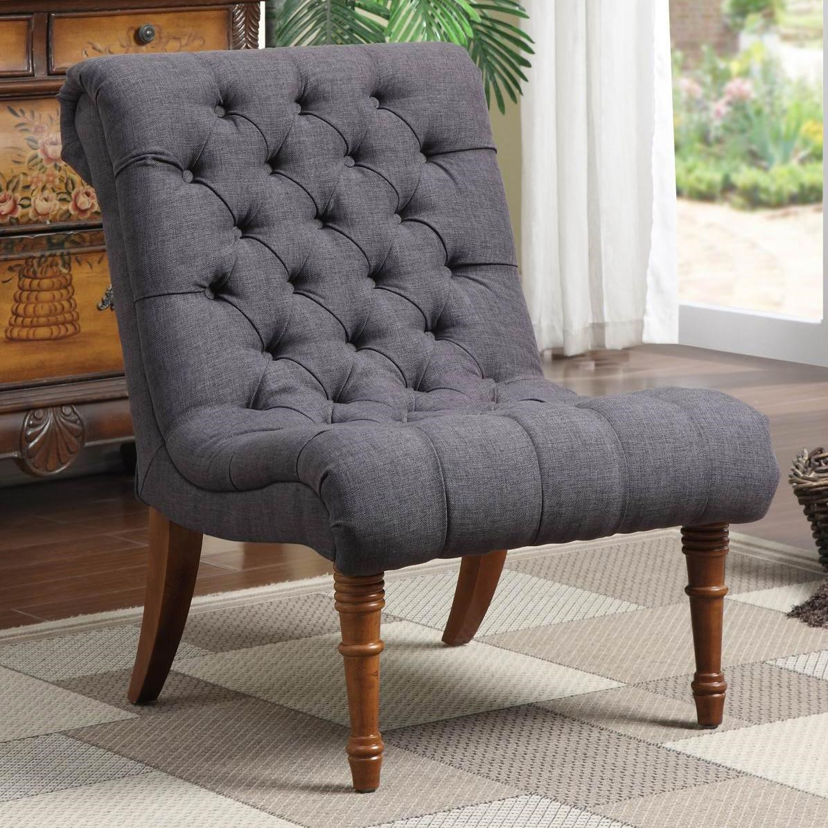 Coaster Accent Chair Accent Seating Tufted Accent Chair Without Arms By Coaster At Dunk Bright Furniture
