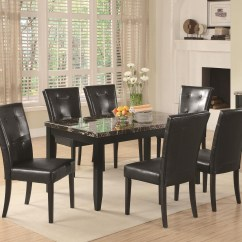 Value City Dining Table And Chairs Wedding Chair Cover Hire Fife Coaster Anisa 7 Piece Set By