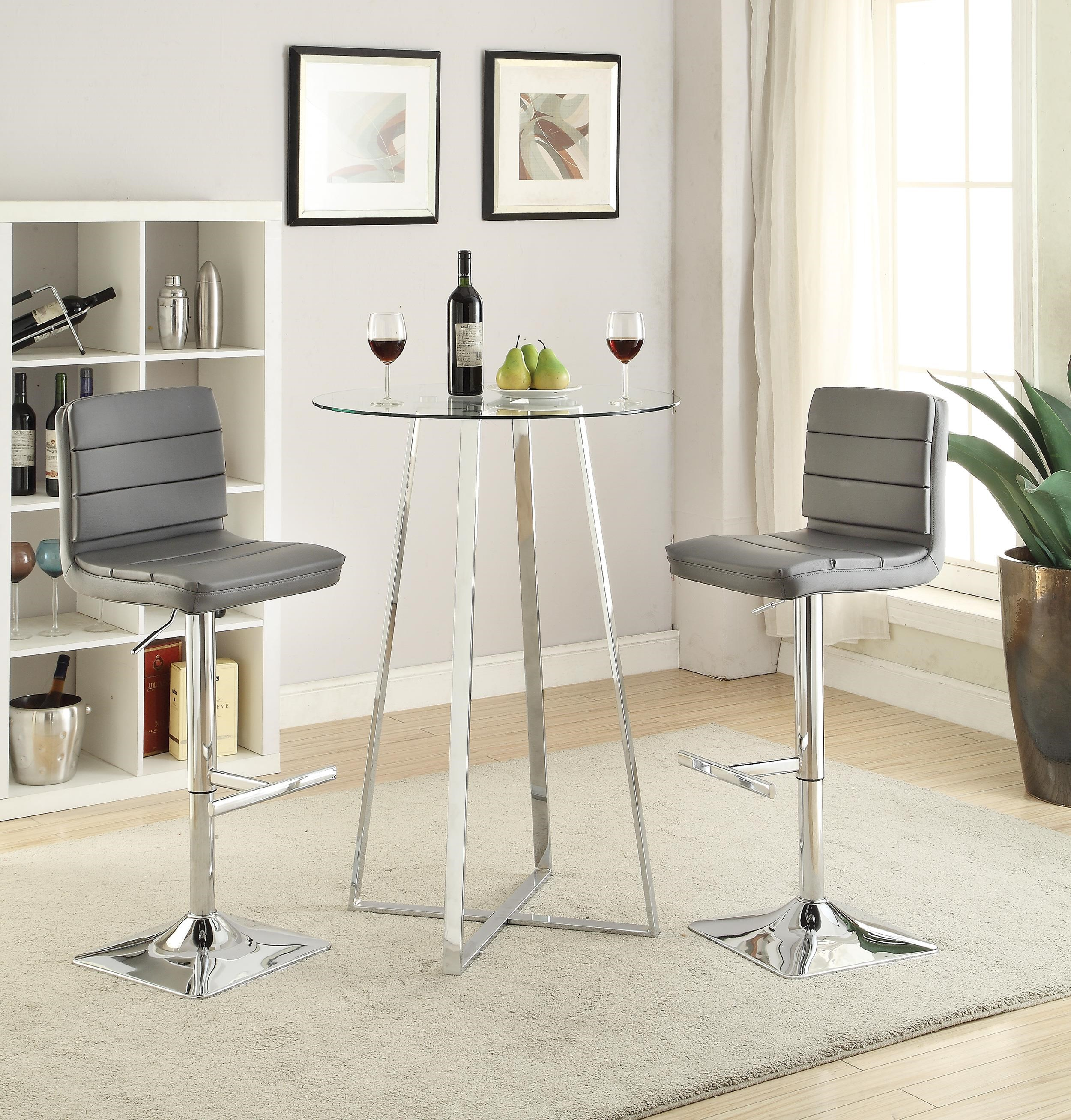 Bar Height Table And Chairs Bar Units And Bar Tables Glass Bar Height Dining Set By Coaster At Dunk Bright Furniture