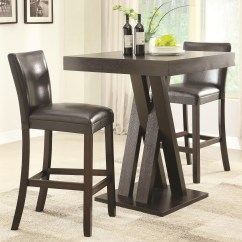 Bar Height Tables And Chairs Tufted Leather Recliner Chair Coaster Units Three Piece Table Stools Set Dunk Bright Furniture Pub Stool Sets
