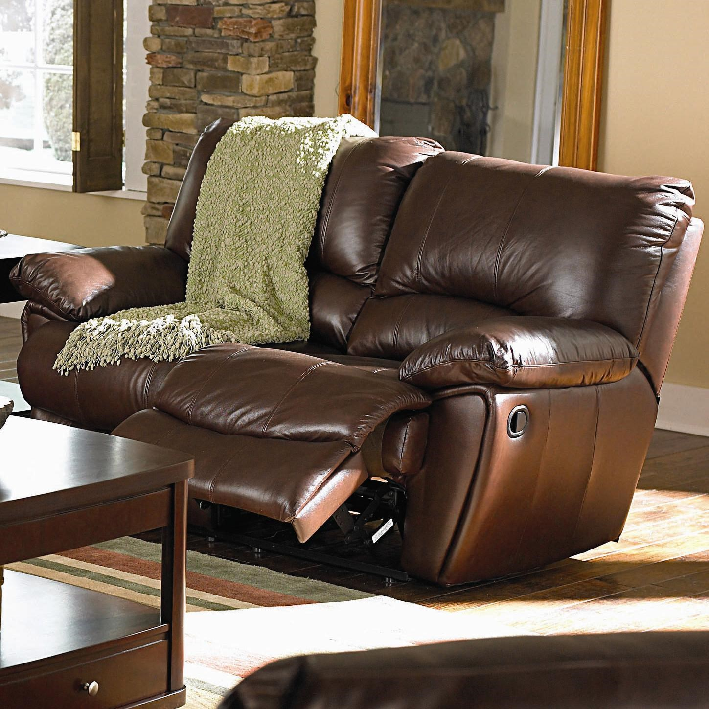 Double Recliner Chair Clifford Brown Leather Double Reclining Love Seat By Coaster At Dunk Bright Furniture