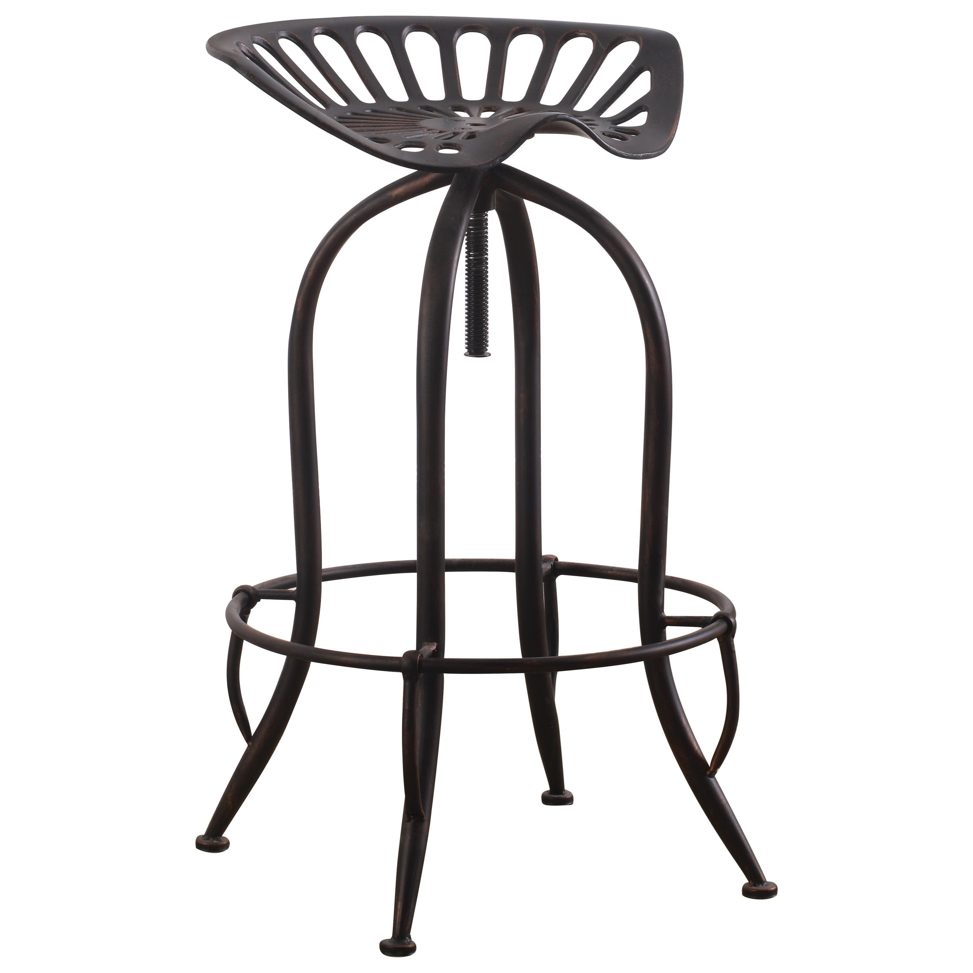 stool chair adjustable booster seat for 3 year old coaster dining chairs and bar stools 104949 metal tractor by