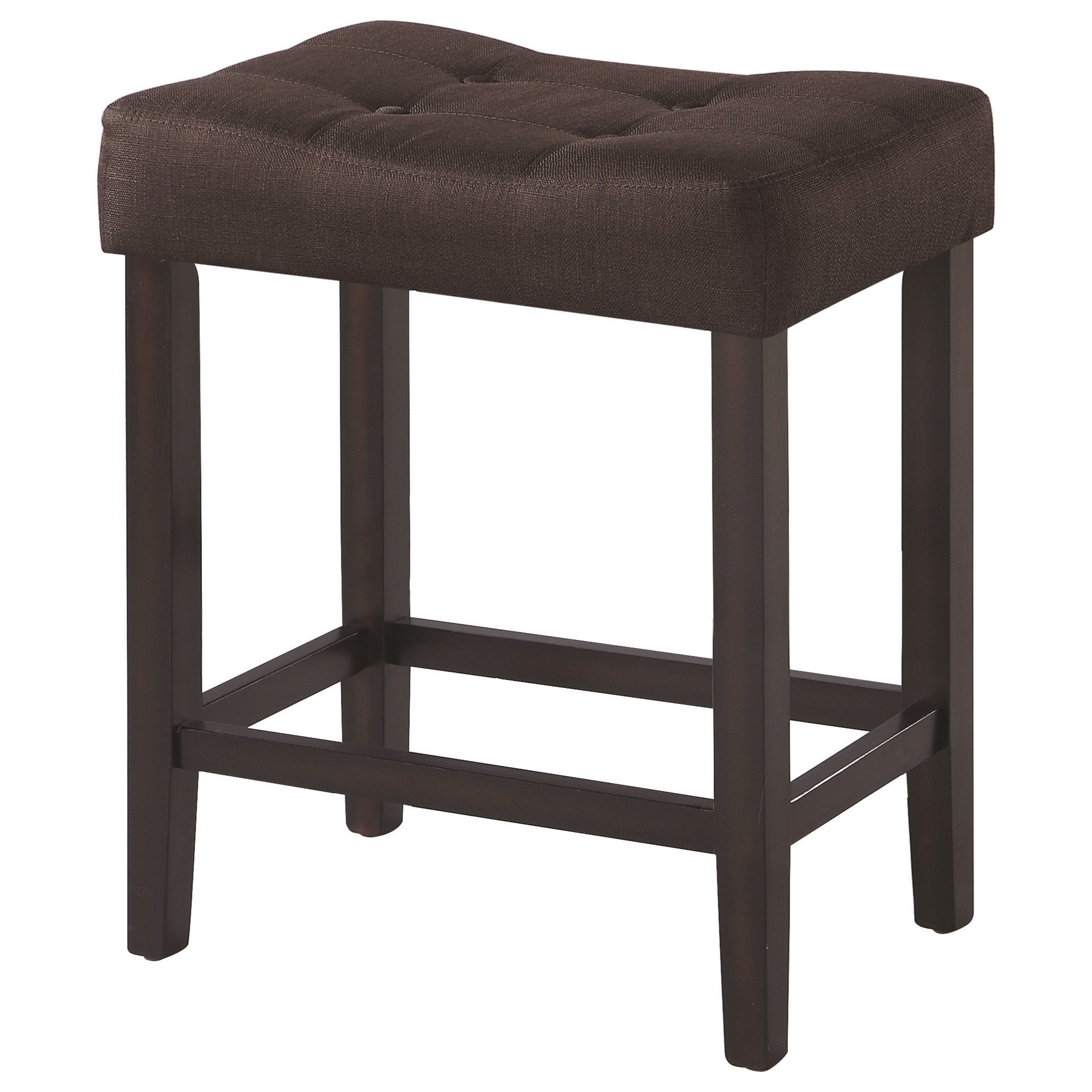 upholstered counter chairs foam padding for dining room coaster and bar stools backless height stool by
