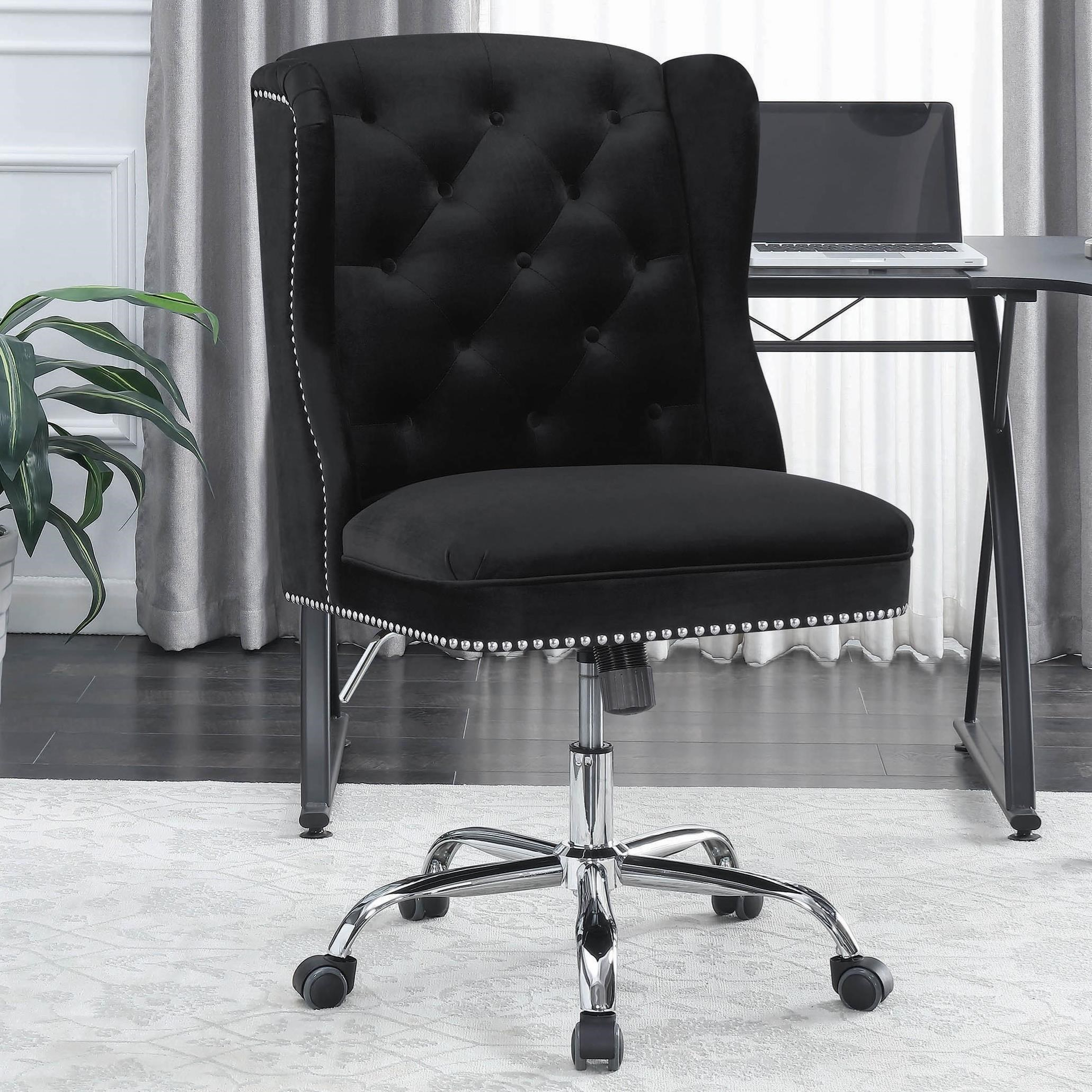 Wingback Tufted Chair Office Chairs Wingback Office Chair With Tufted Back By Coaster At Dunk Bright Furniture