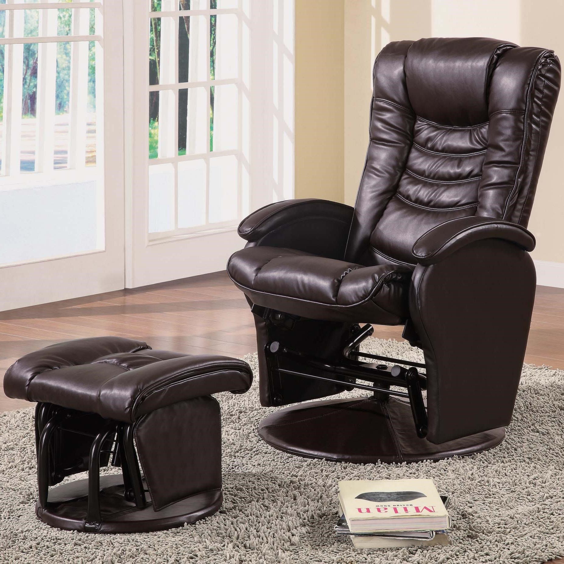 recliner vs chair with ottoman buy baby high coaster recliners ottomans casual glider matching