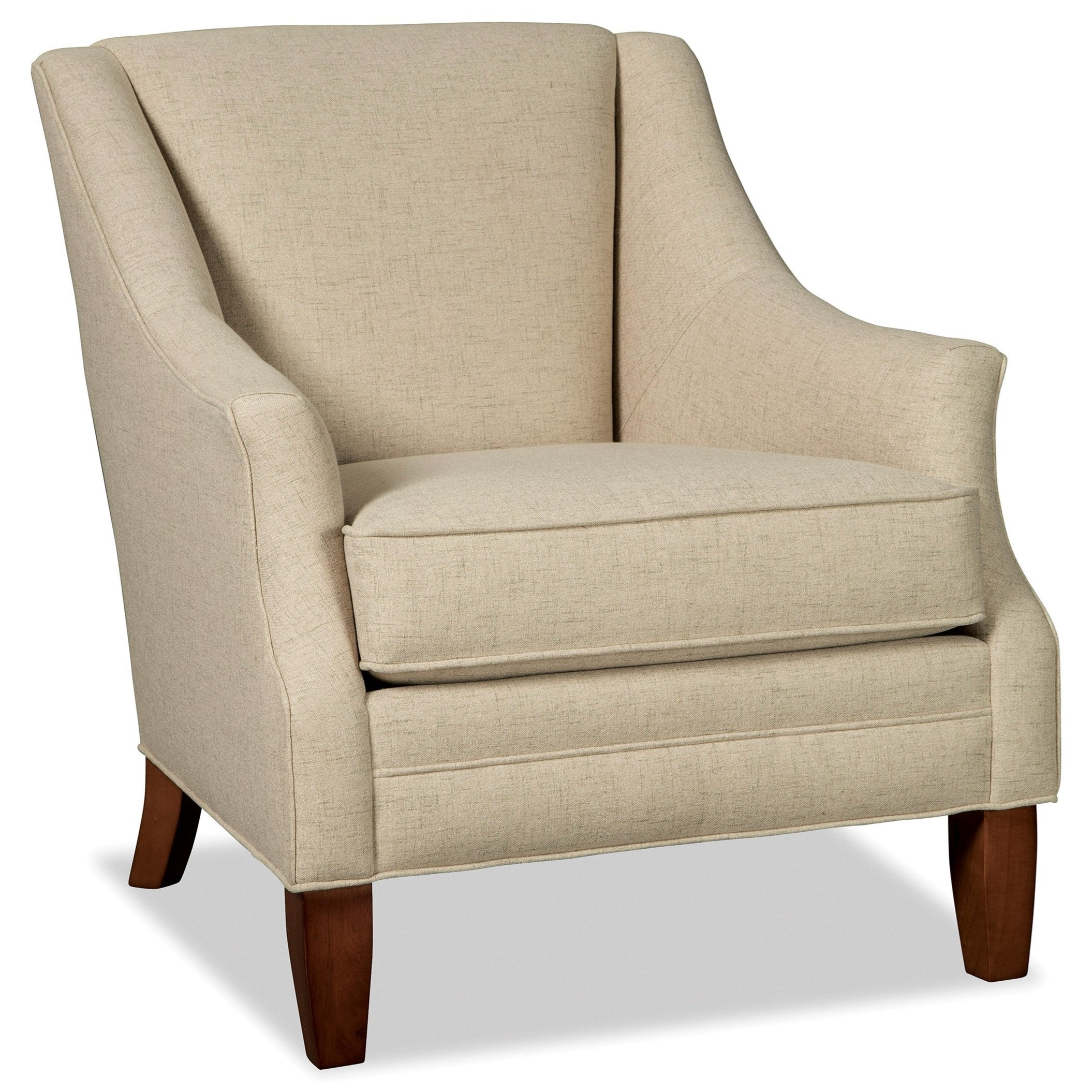 craftmaster chair and a half i need for my bedroom 073910 accent with flare tapered arms zak s fine furniture upholstered chairs