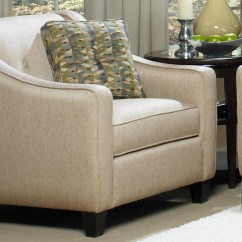 Craftmaster Chair And A Half J6 Power 7069 Contemporary Upholstered 1 2 With Button Detail