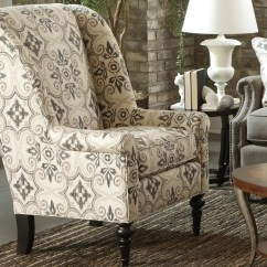 Accent Wingback Chairs Swing Chair Mudah Craftmaster Traditional With Modified Wing Back By
