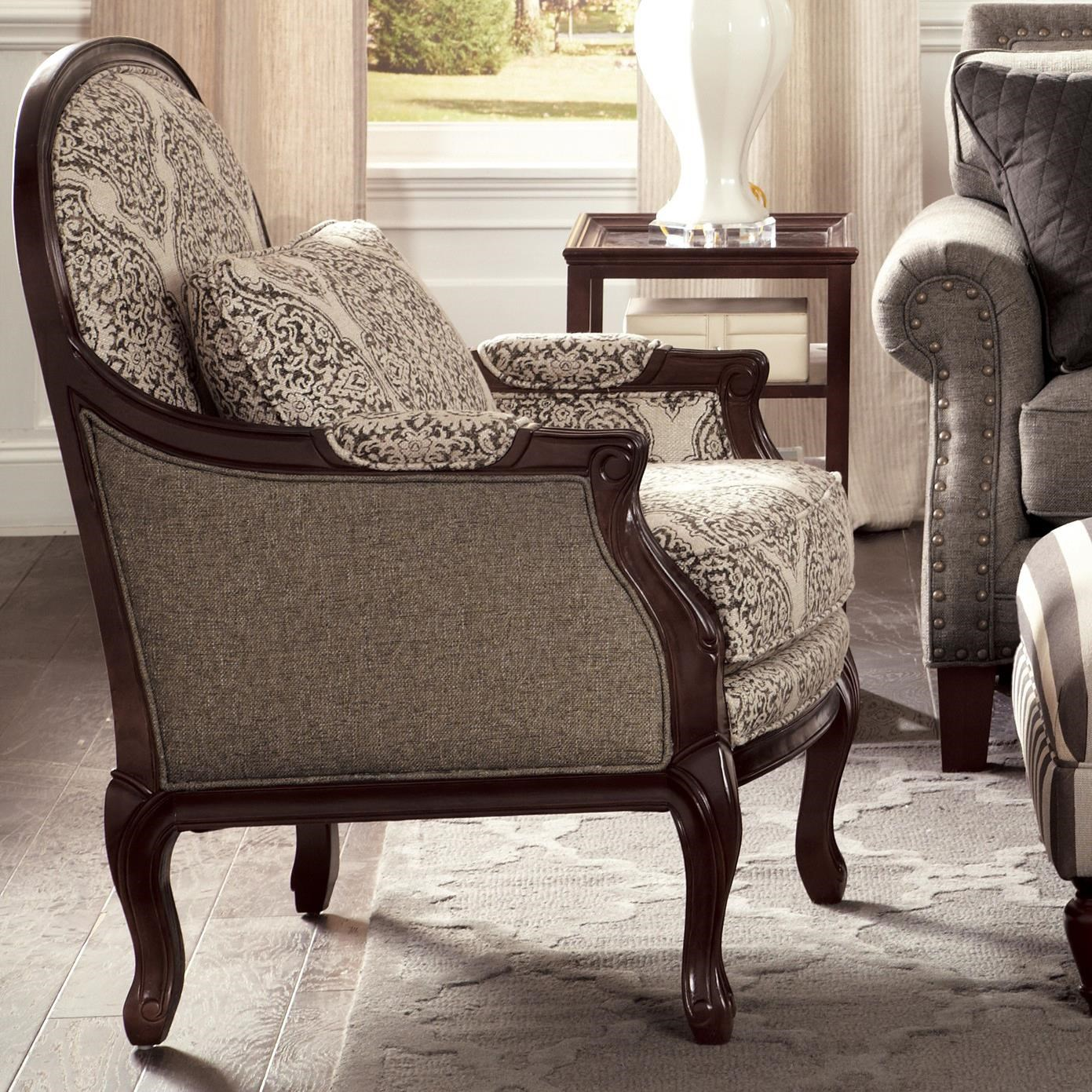 craftmaster chair and a half mesh computer accent chairs traditional with cabriole legs exposed wood frame