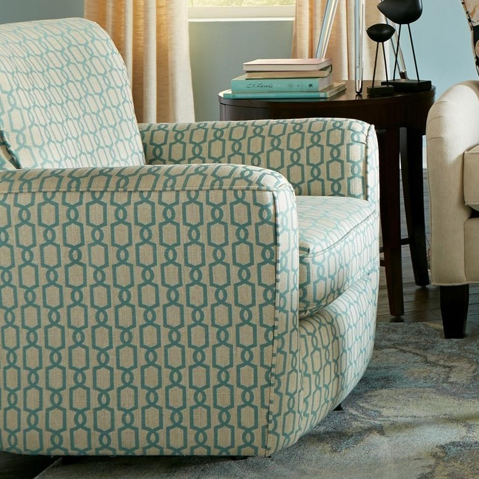 Upholstered Swivel Chairs Craftmaster Accent Chairs 068710 Contemporary Upholstered Swivel