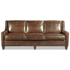 Brown Leather Studded Sofa Covers In Toronto Craftmaster L162550 Transitional Nailhead