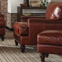 Leather Chair Ottoman Set Xmen Guy In Wheelchair Craftmaster L180950 Traditional And With Nailheads Zak S Fine Furniture Sets