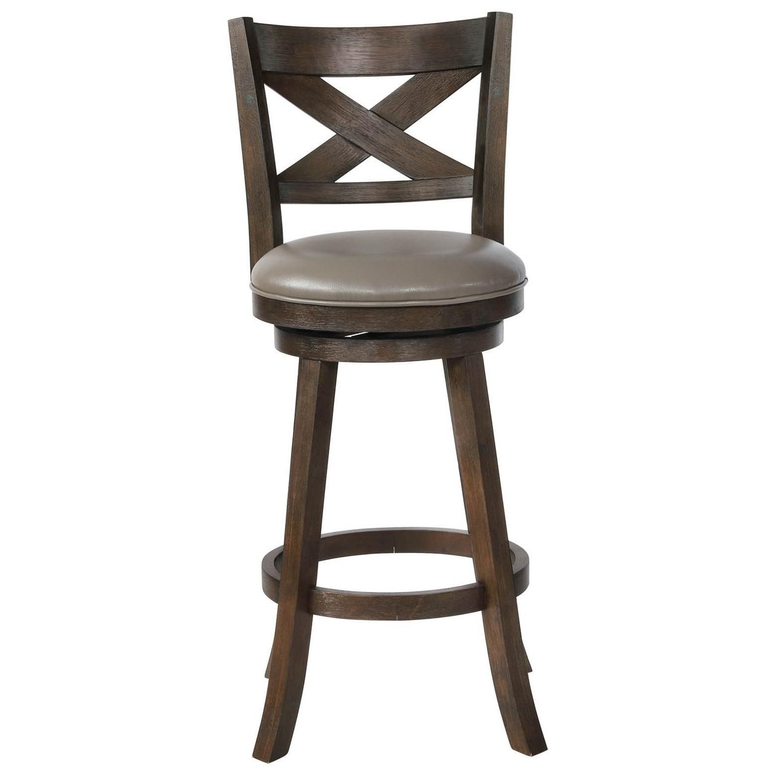 Swivel Bar Chairs Bar Stools Cm Swivel Bar Stool With Upholstered Seat By Crown Mark At Royal Furniture