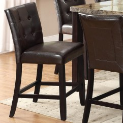 Upholstered Counter Height Chairs Used Dining Room Crown Mark Bruce 2767s 24 Stool With Button Tufting Dunk Bright Furniture Bar Stools