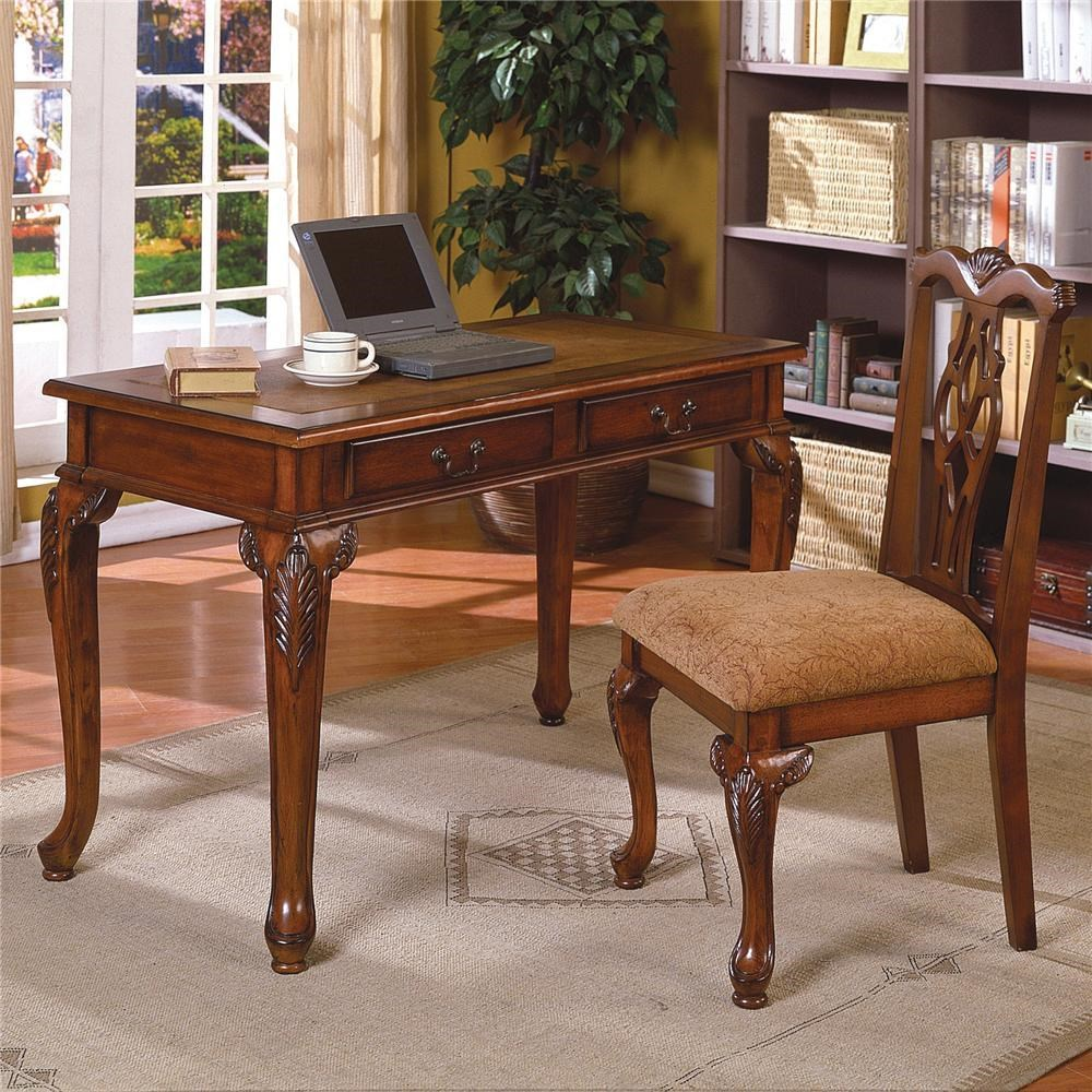 Desk And Chair Set Fairfax Traditional Home Office Desk Chair Set By Crown Mark At Household Furniture
