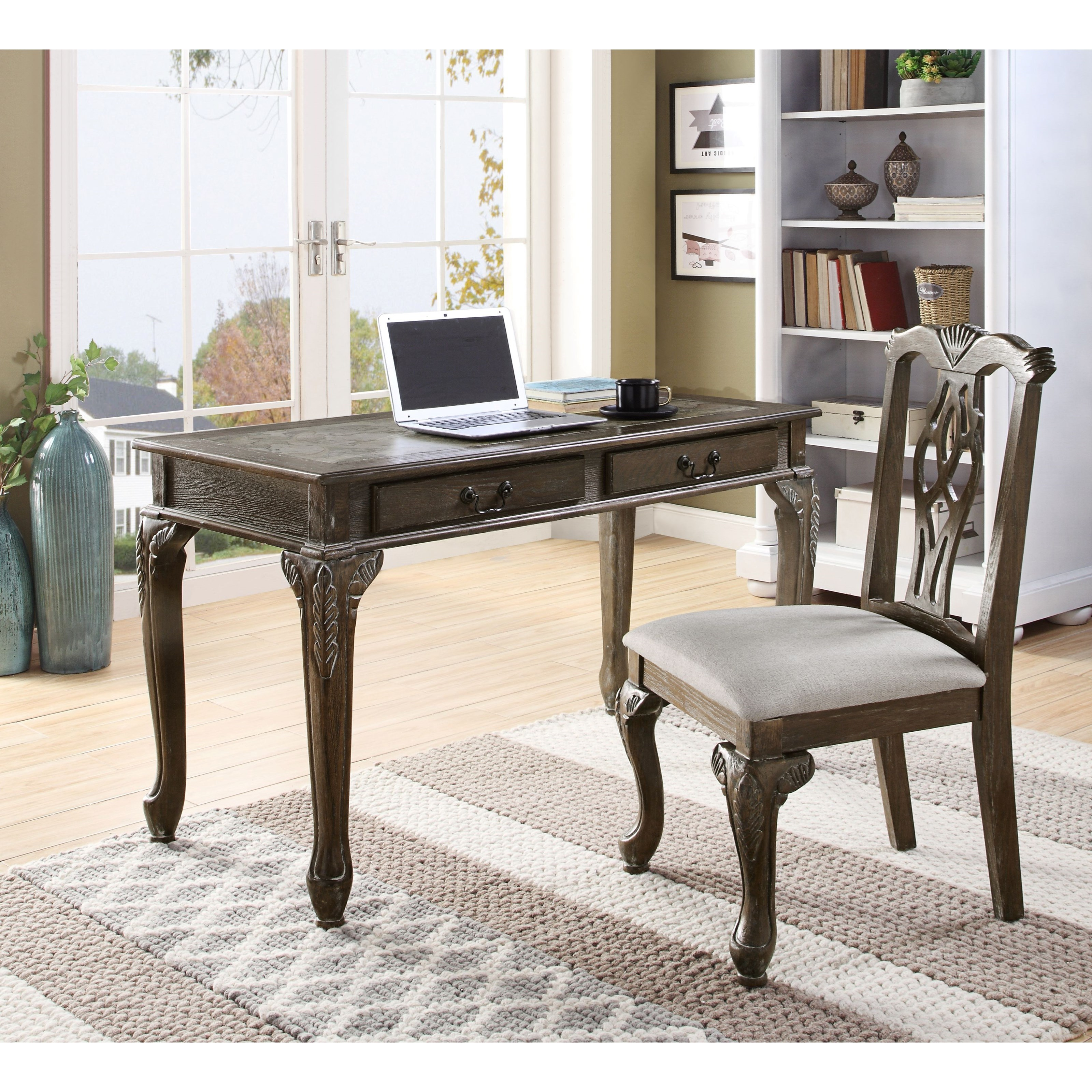 Desk And Chair Set Fairfax Traditional Home Office Desk Chair Set By Crown Mark At Dunk Bright Furniture