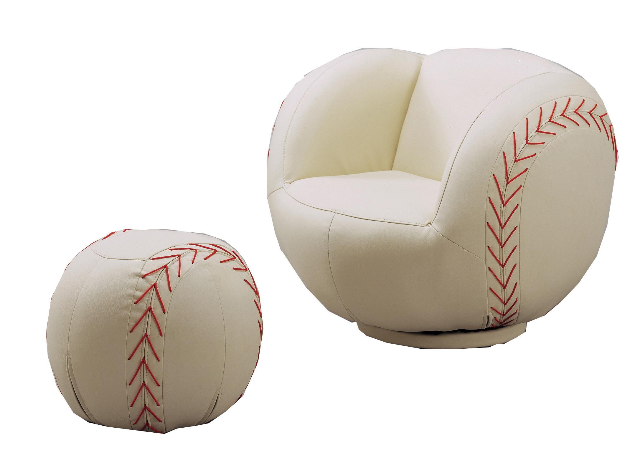 kids sports chairs black velvet dining australia crown mark sport 7001 baseball swivel chair ottoman chairsbaseball