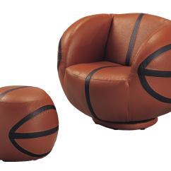 Kids Sports Chairs Garden Steamer Chair Covers Crown Mark Sport 7002 Basketball Swivel Ottoman Dunk Bright Furniture