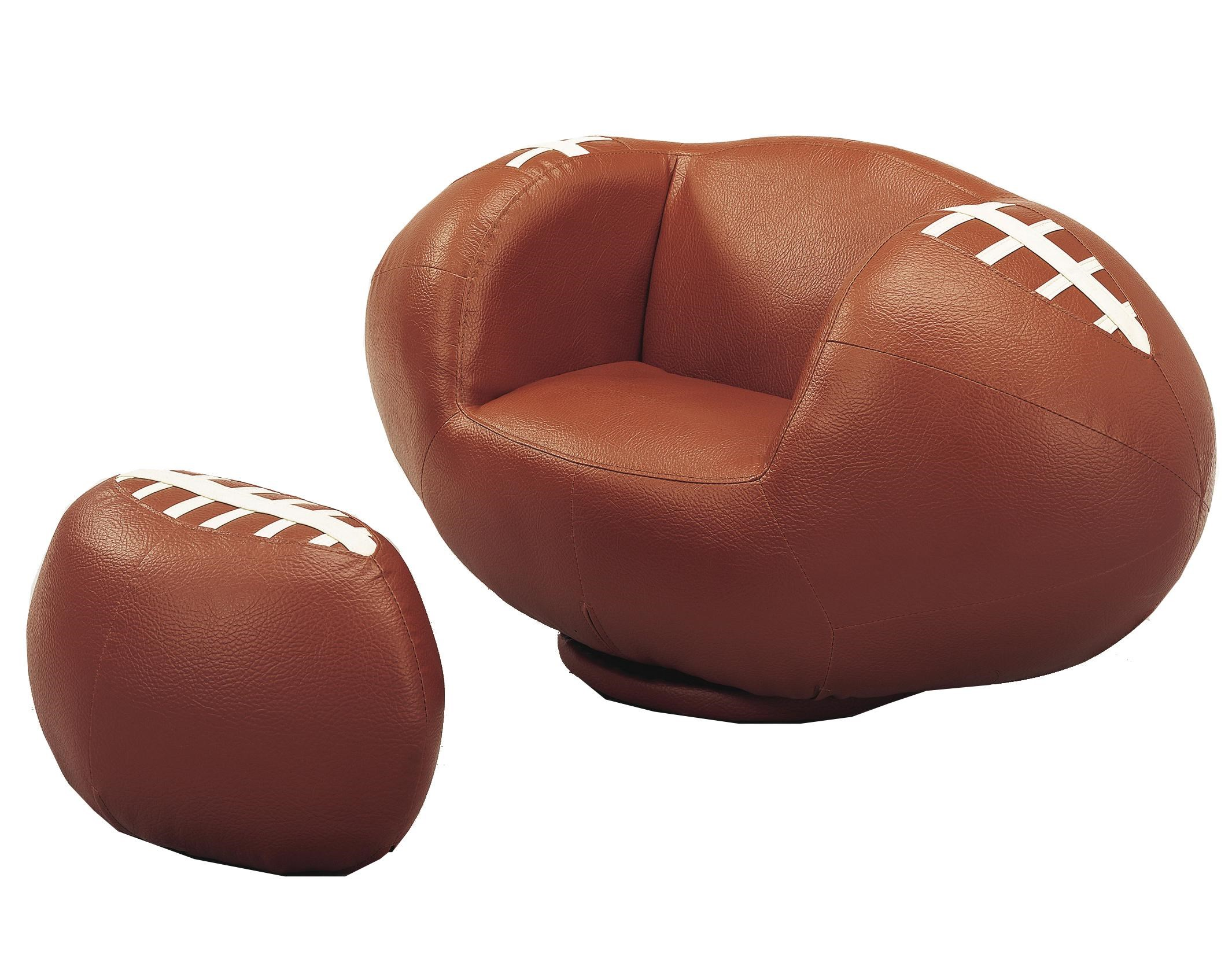 Chairs With Ottoman Kids Sport Chairs Football Swivel Chair Ottoman By Crown Mark At Royal Furniture