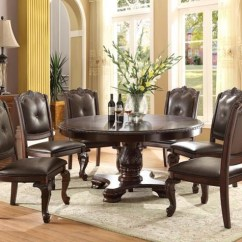 Four Chairs Furniture Brown Office Guest Crown Mark Kiera 2150t 60 5p Traditional Round Table With Side Kieraround