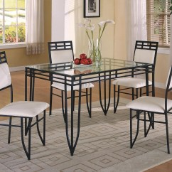 Breakfast Table And Chairs Set Antique Tables Crown Mark Matrix 5 Piece Dinette Side Dunk Bright Furniture Dining Sets