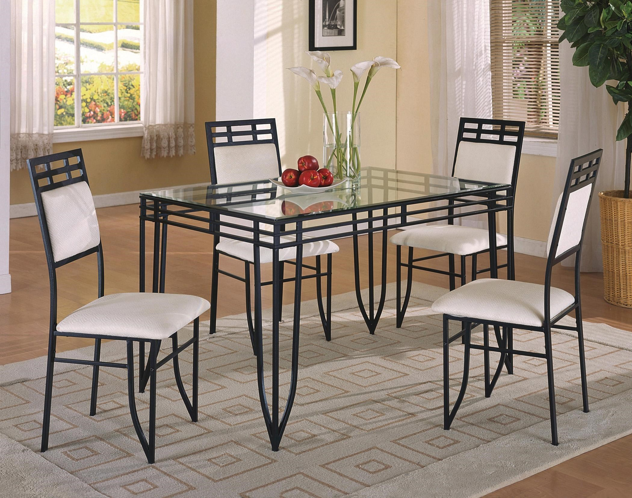 breakfast table and chairs set folding chair rental crown mark matrix 5 piece dinette side dunk bright furniture dining sets