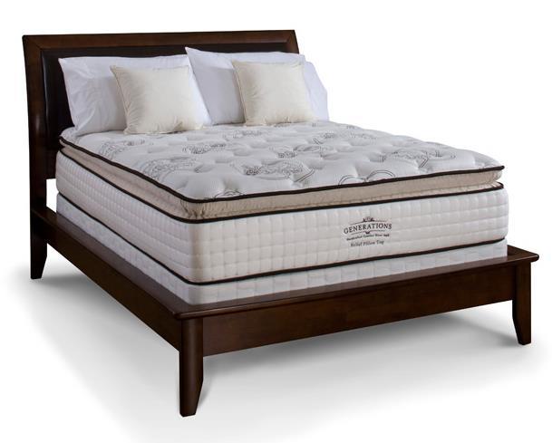 generations relief full pillow top mattress set