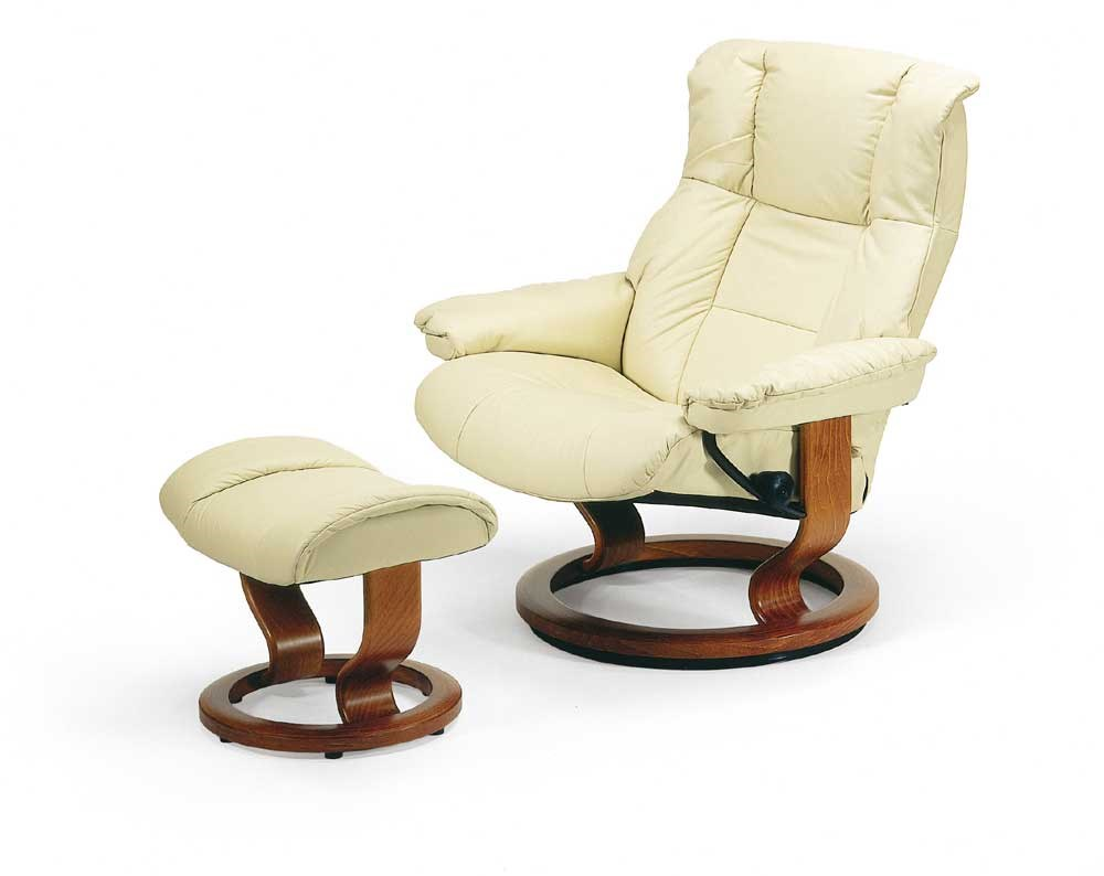 Fit Chair Mayfair Large Reclining Chair Ottoman With Classic Base By Stressless At Hudson S Furniture