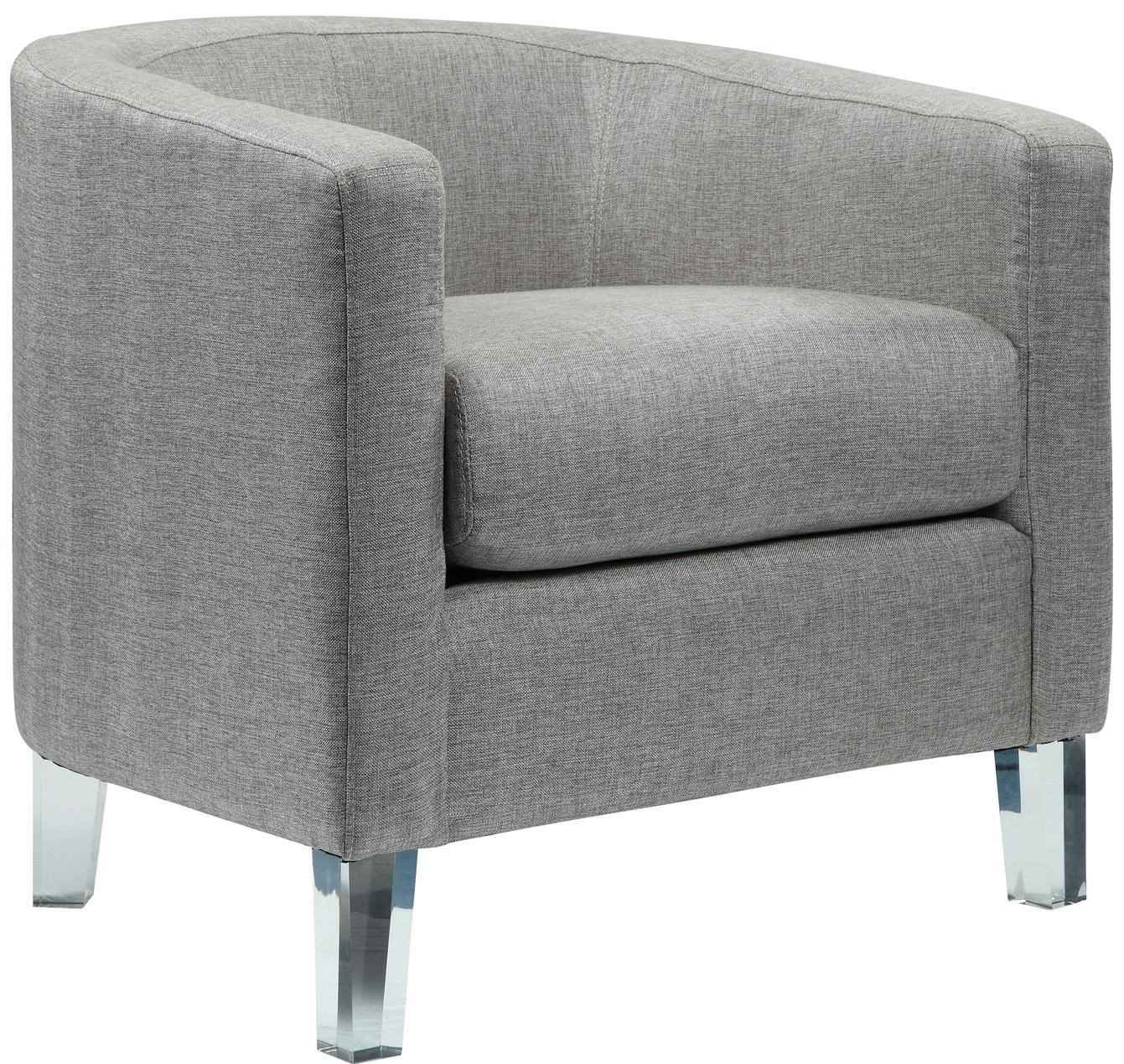 tub accent chair steel wwe elements international durian modern with acrylic legs