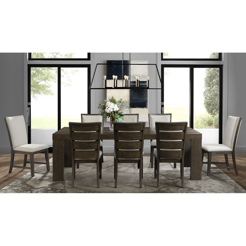 8 Chair Dining Set Grady Contemporary Dining Table Set With 8 Chairs By Elements International At John V Schultz Furniture