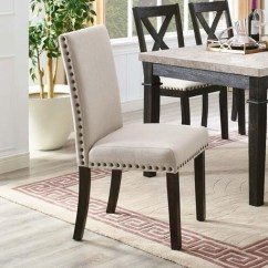 Upholstered Chair With Nailhead Trim Kijaro Sling Elements International Greystone Side